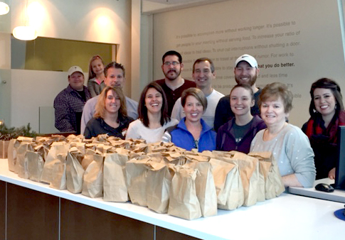 Making Bagged Lunches for the Homeless
