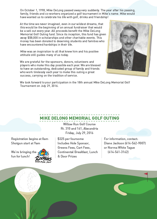 Mike DeLong Golf Outing Flyer
