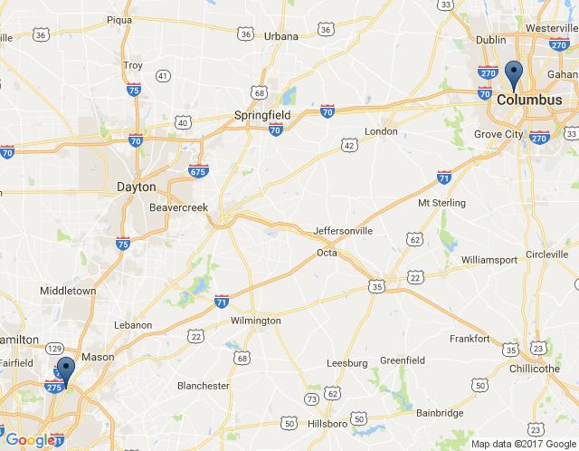 Map of Cincinnati Location